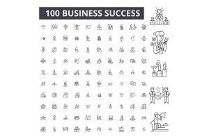 Business success editable line icons
