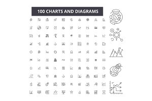 Charts and diagrams editable line