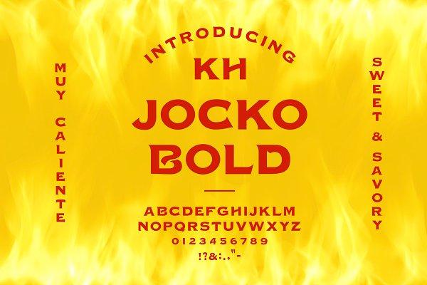 Serif Fonts: Kern + Hyde Creation Co. - KH JOCKO BOLD