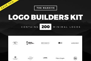 Massive Logo Builder Kit | 200 Logos