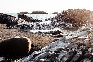 Iceland rocky coast