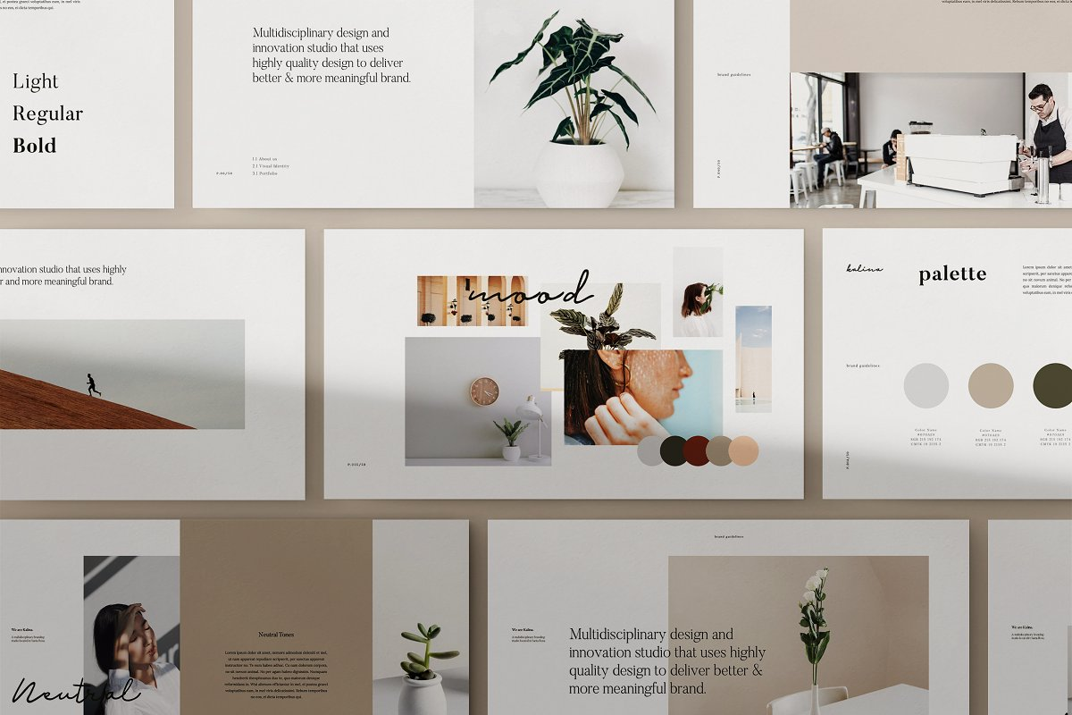 KALINA - Powerpoint Brand Guidelines ~ PowerPoint Templates