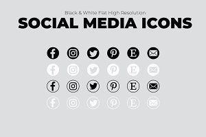 Simple Social Media Icons-Creatives