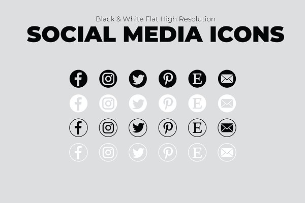 SALE 6 Creative Social Media Icons