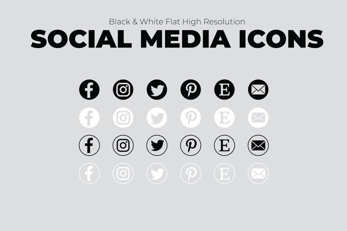 Simple Social Media Icons-Creatives