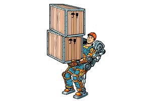 container loader. working in the