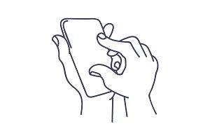 Zooming in smart phone screen