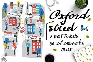 OXFORD STREET: illustrated map