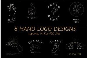 Hand Logo Design Set
