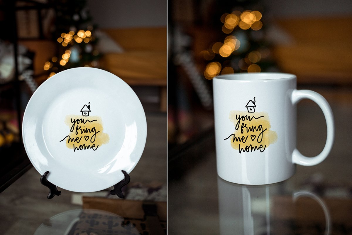 Sublimation mug & plate mock ups ~ Product Mockups