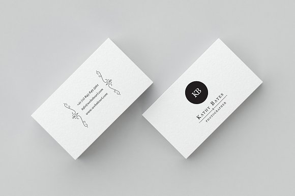 Minimal photography business card business card templates minimal photography business card flashek
