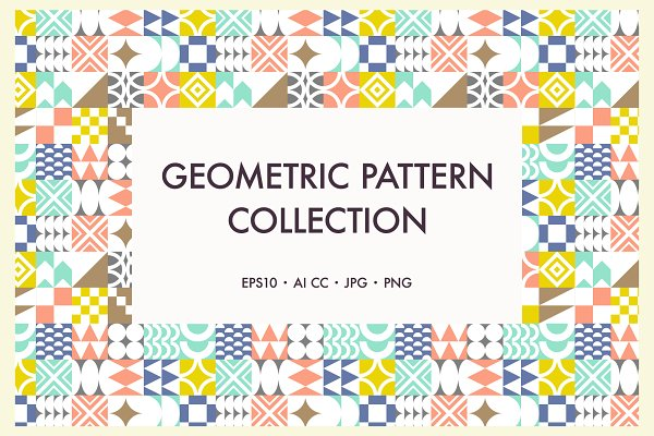 Graphic Patterns: Minkina  - Catchy Geometric Pattern Collection