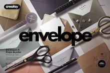 Envelopes Mockup Set (+props) by  in Print