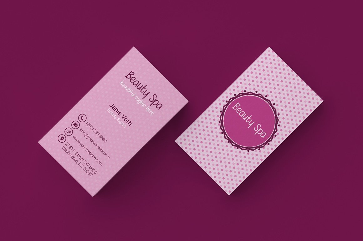 Beauty business cards business card design - Beauty salon business ...