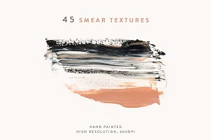 Collection of 45 Smear Textures