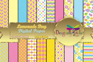 Lemonade Day Digital Paper Pack
