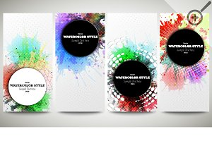 Colorful banners, abstract flyers