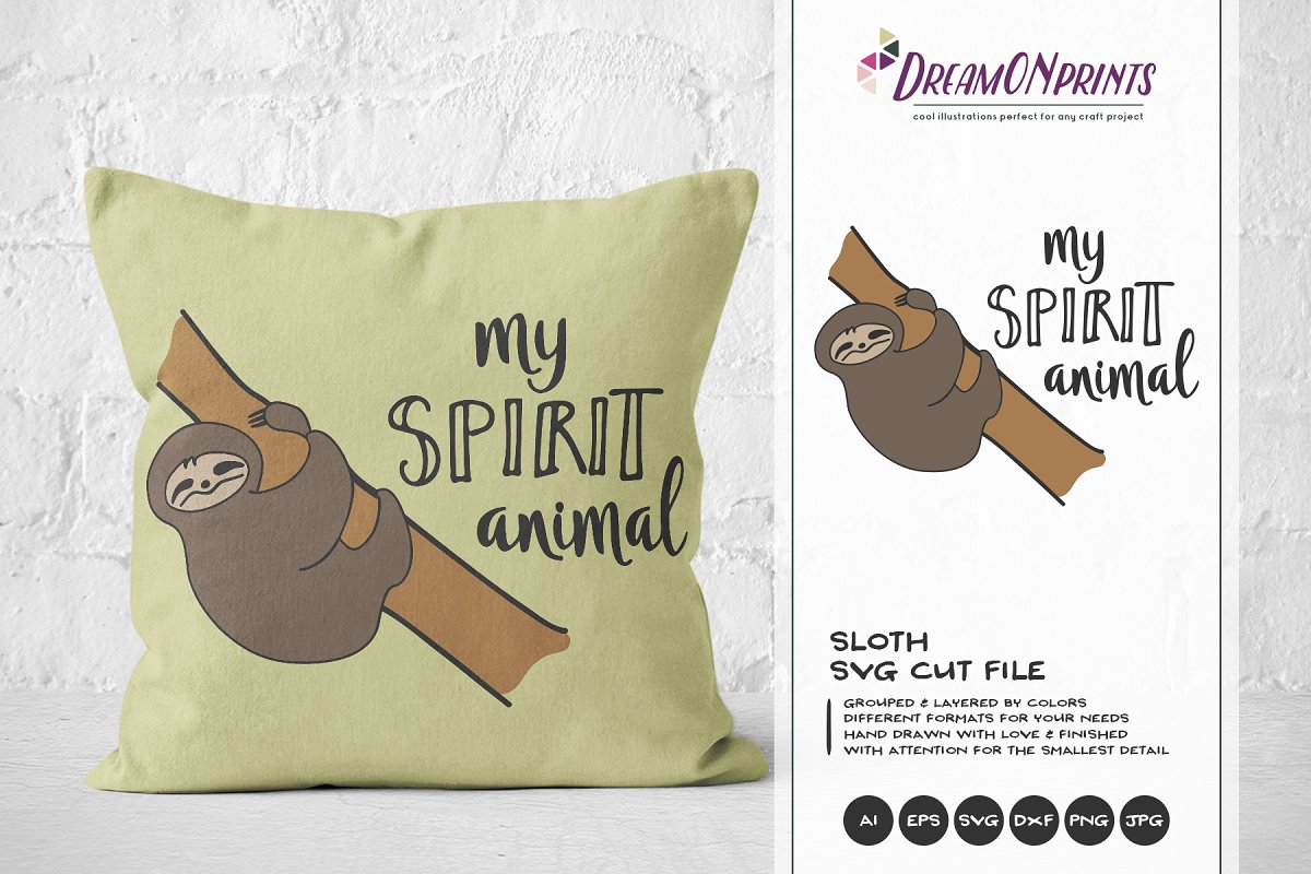 Sloth SVG - My Spirit Animal