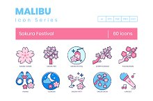60 Sakura Festival Icons | Malibu by  in Icons