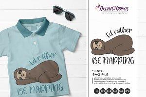 Nap, Lazy Sloth SVG