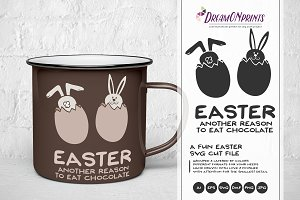 Funny Easter SVG Illustration