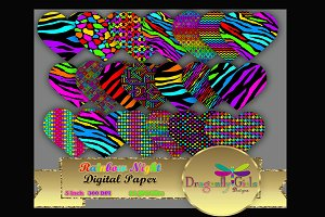 Rainbow Night Hearts Clipart
