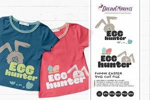 Egg Hunter - Easter SVG Illustration