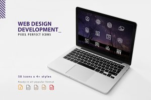 Web Design Development Icons Set