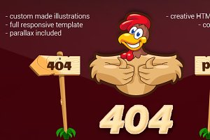 404 Error Cartoon Page