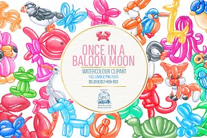 Balloon Animals Watercolor Bundle102