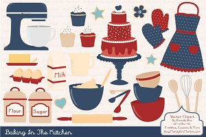 Americana Baking Clipart & Vectors