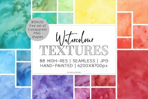 88 Hi-Res Watercolor Textures