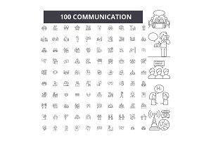 Communication editable line icons
