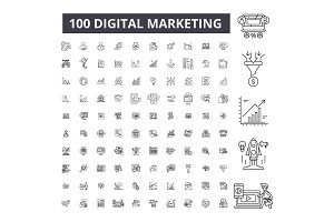 Digital marketing editable line