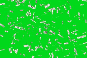 Flying dollars banknotes in the air