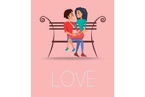 Love Poster with Happy Couple