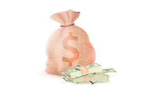 Banking Sack Full of Money Dollar