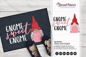 Gnome Sweet Gnome SVG Vector