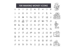 Making money editable line icons