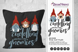 Cuddling with My Gnomies SVG