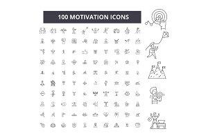 Motivation editable line icons