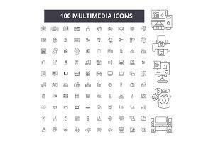 Multimedia editable line icons