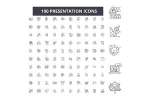 Presentation editable line icons