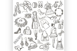 Hand drawn Fashion illustration