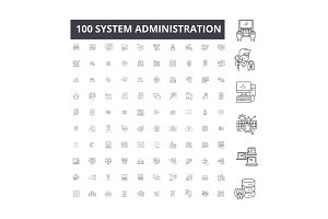 System administration editable line