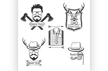 Set of Hipster style logos,badges