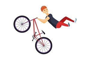 Ride on a sports bicycle, BMX