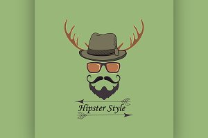Vector Hipster style logo
