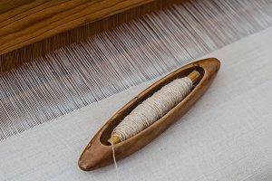 Silk on the loom.