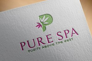 Pure Spa Logo Template